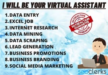 I'll provide you all kinds of service as your VIRTUAL ASSISTANT