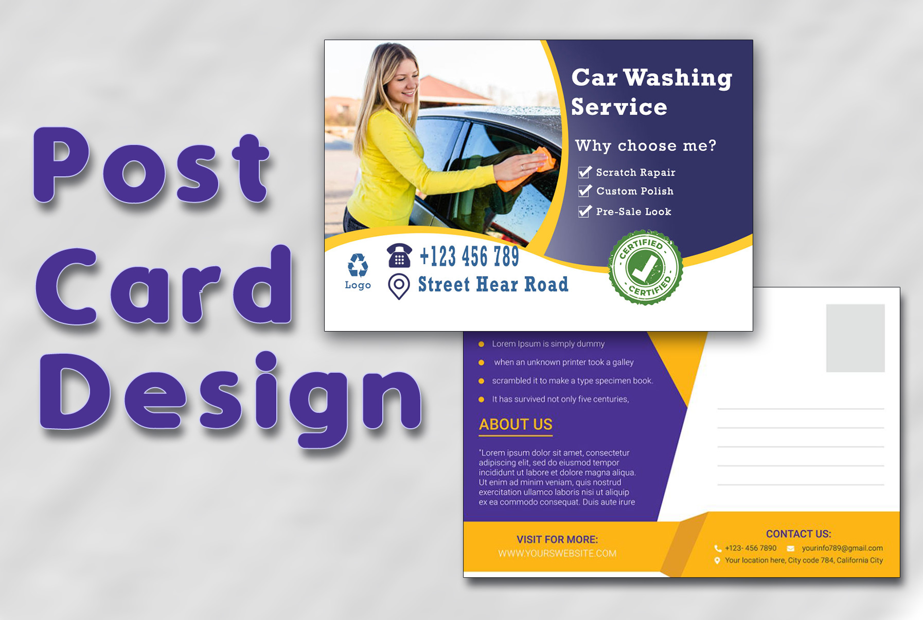 I will do design amazing postcard