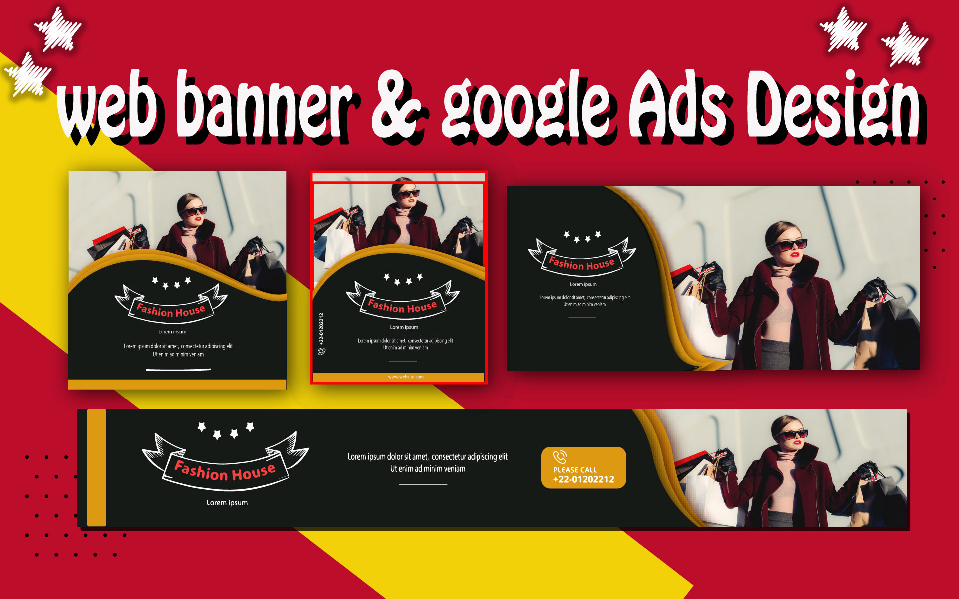 I will do web banner ads, google display ads design