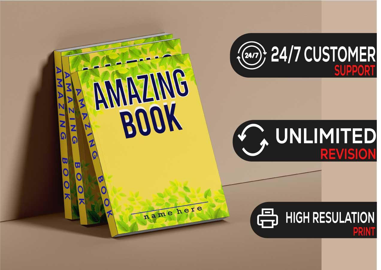 I will do book cover design, e book or kindle book, paperback cover design