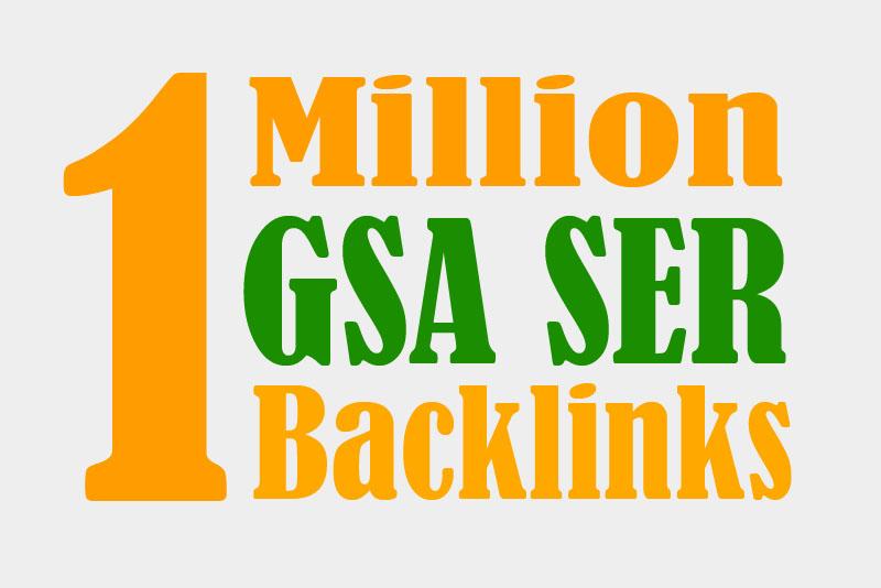 1m gsa ser backlinks for increase link juice and faster index on google