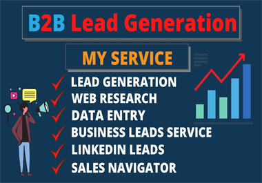 I will do b2b linkedin lead generation,  email list building With Sales navigator and web research
