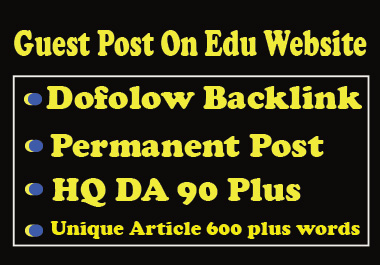 I will Write and publish 3 D0f0ll0w guest P0st on education websites da 90 plus