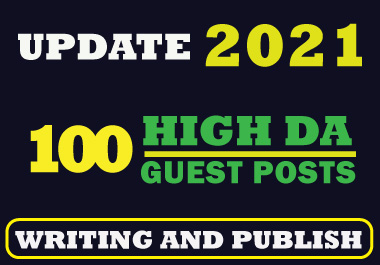 I will write and publish 100 guest posts and 10 profile creation backlink on high DA sites