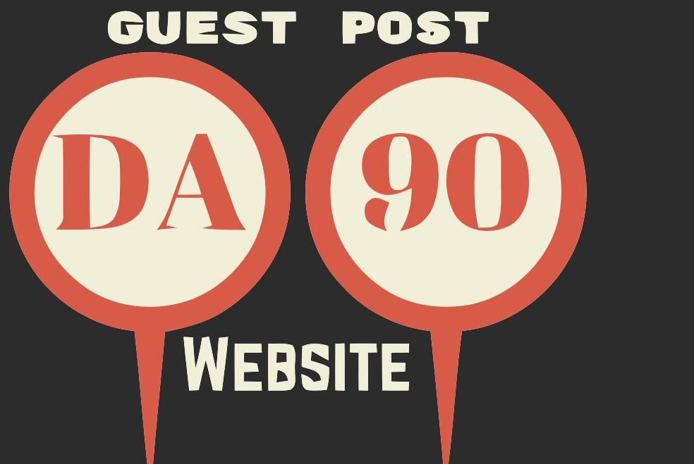 High quality 5 Guest Post On Da90+ Sites - All Backlinks from DA90 Site