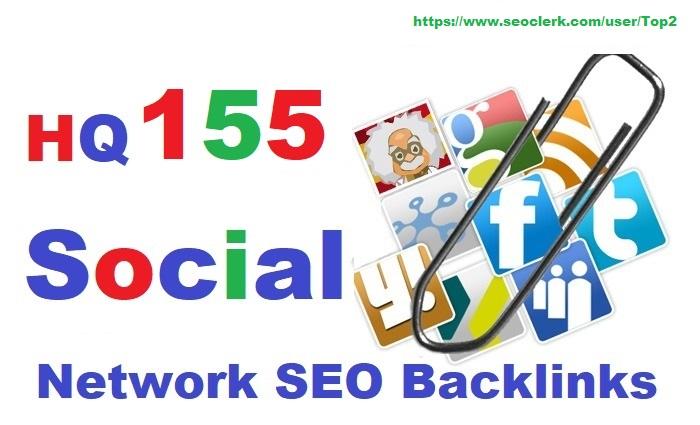 High Authority 155 Social Network SEO Backlinks