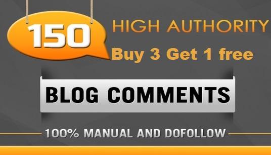 Total 150 BLOG COMMENTS BACKLINKS For Google Ranking Buy 3 Get 1 free