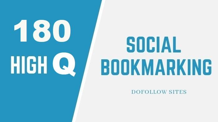 180 High Authority DA & PA Social Network SEO Backlinks