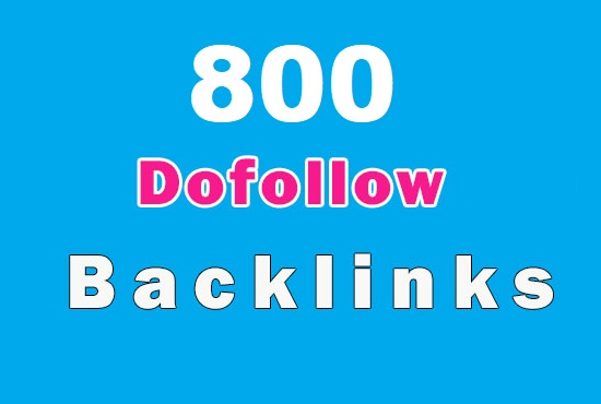 800 High quality verified DoFollow backlinks