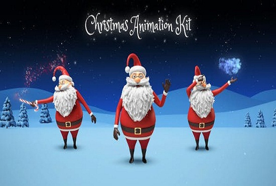 I will make merry christmas video animation