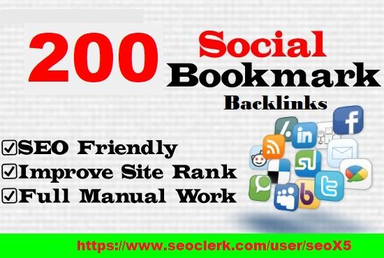 High Authority 200 Social Network SEO Backlinks