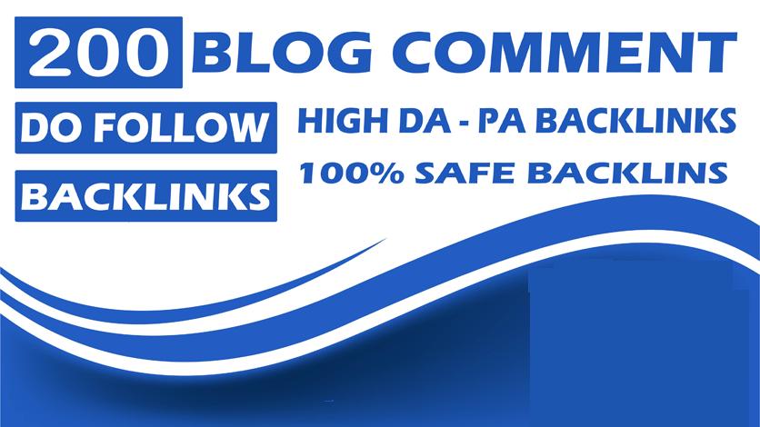 200 BLOG COMMENTS BACKLINKS For google ranking