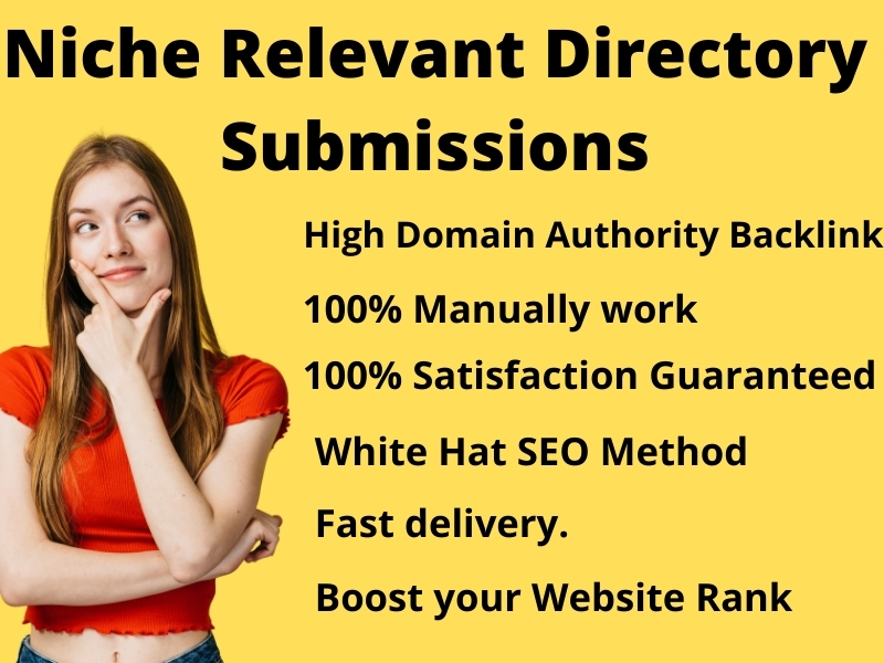 Create 35 Niche Relevant Directory Submissions on High PR Website