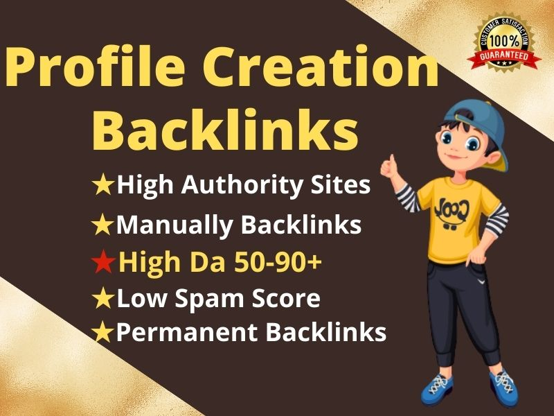 I will Create Manually 100 High-Quality Do Follow Profile Backlinks