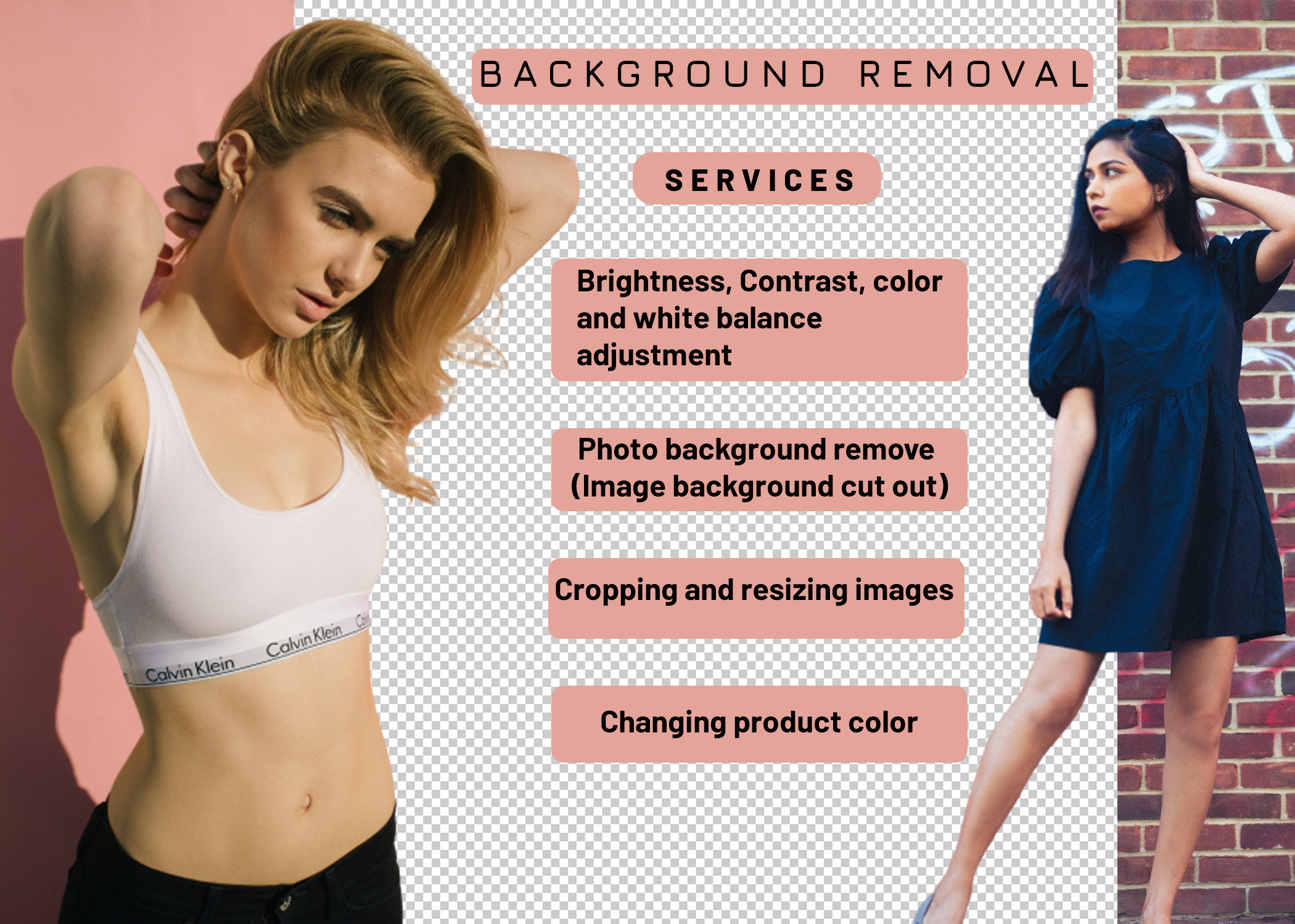 I will do Image background removal professionally within 24 hours.