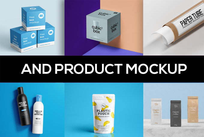 I will create realistic photoshop smart object product mockup