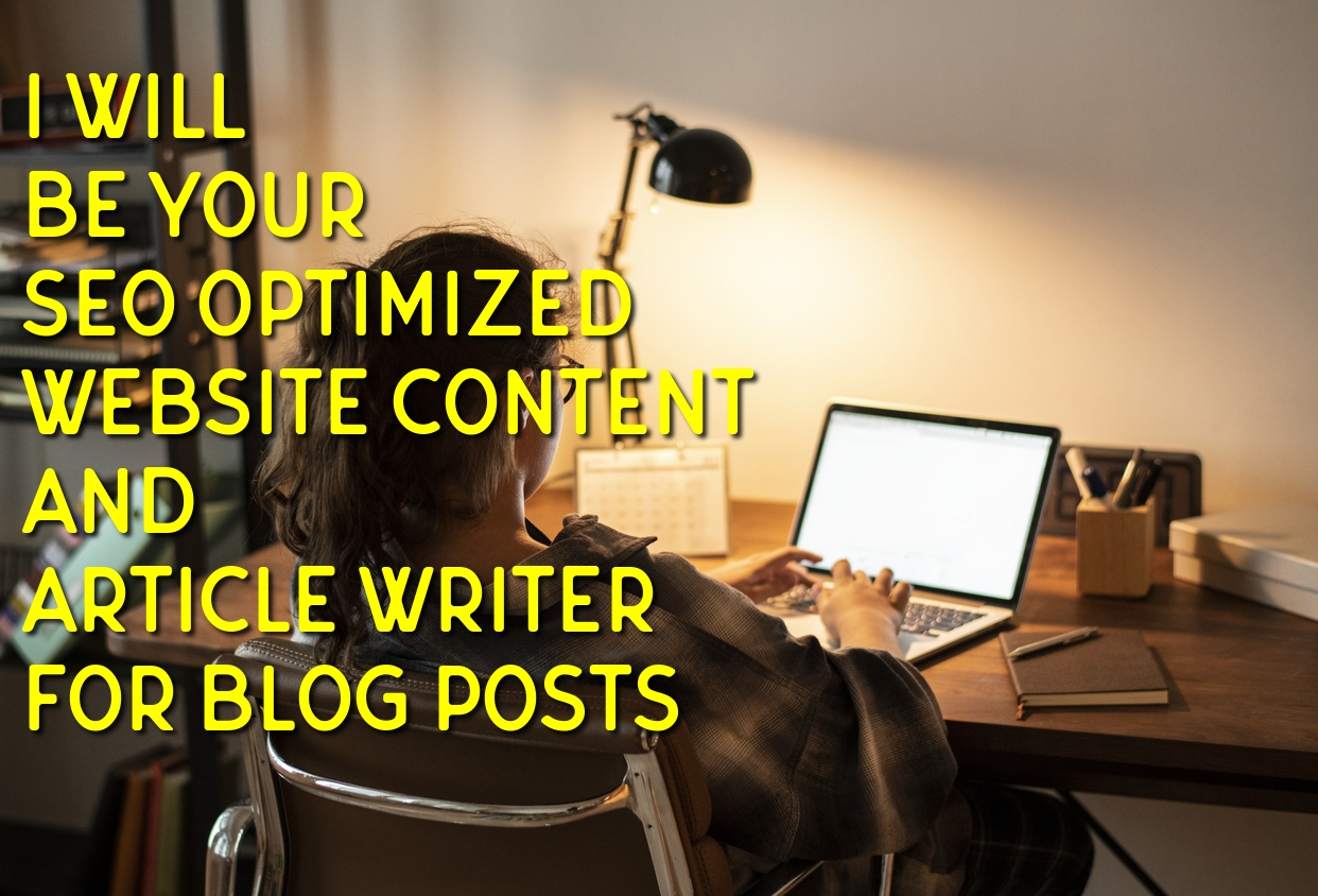 SEO friendly website contents and blog posts copywriting