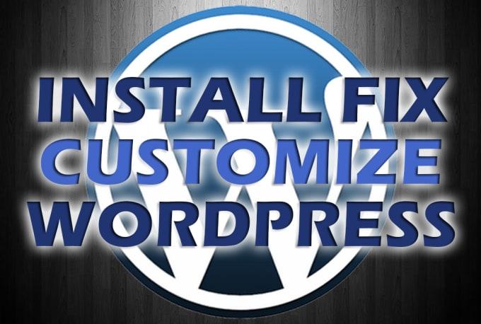 I will install,  fix,  customize any WordPress theme