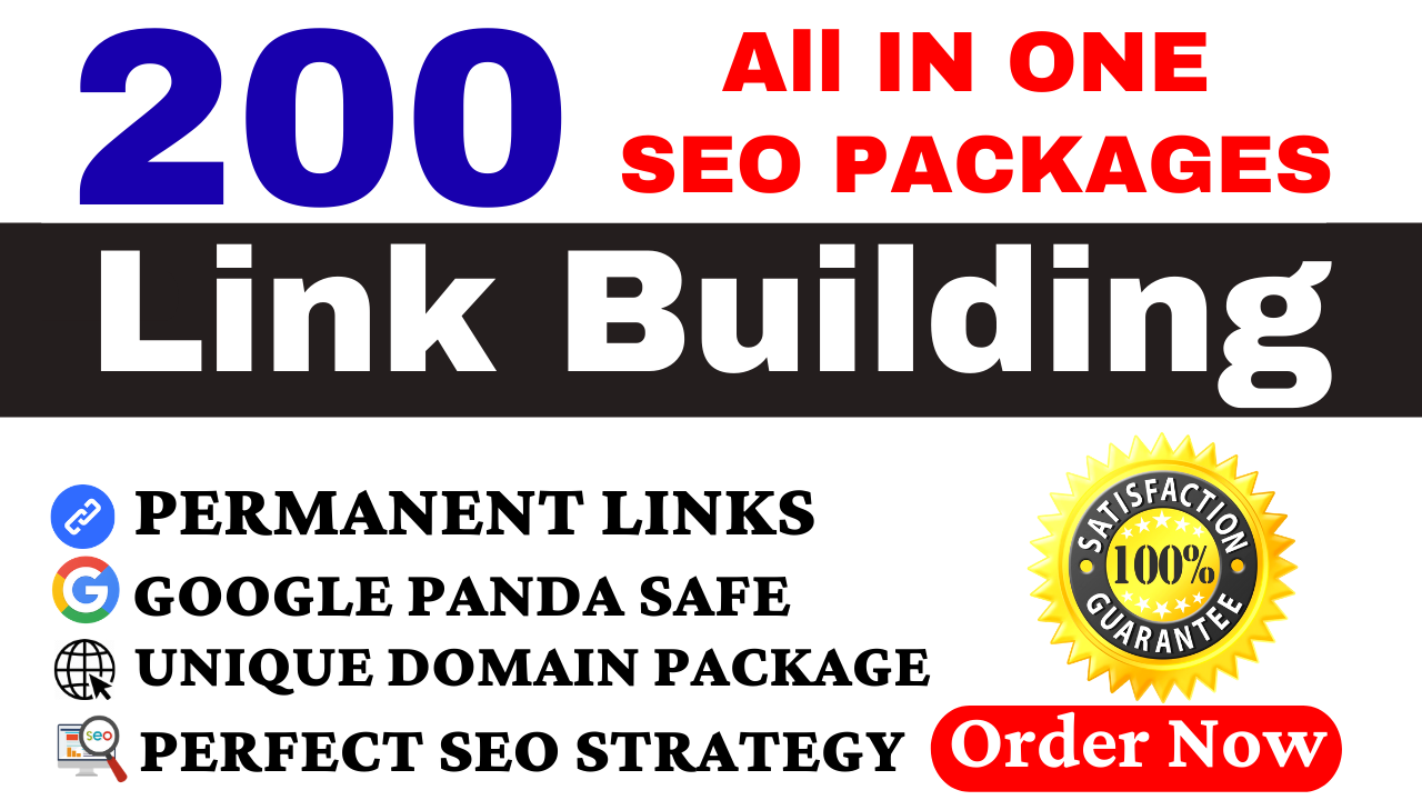 I will provide all in one 200 manual SEO link building package