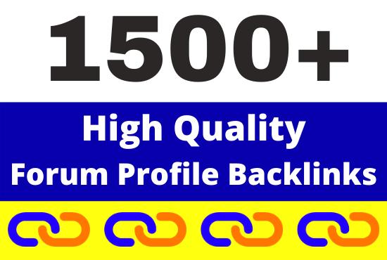 1500+ High Quality Forum Profiles Backlinks link building service
