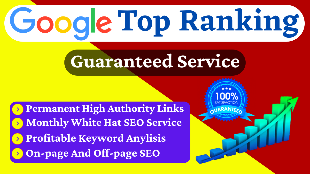 Rank Your Website on Google 1st Page Guarantee,  Boost Your Website Top on Google