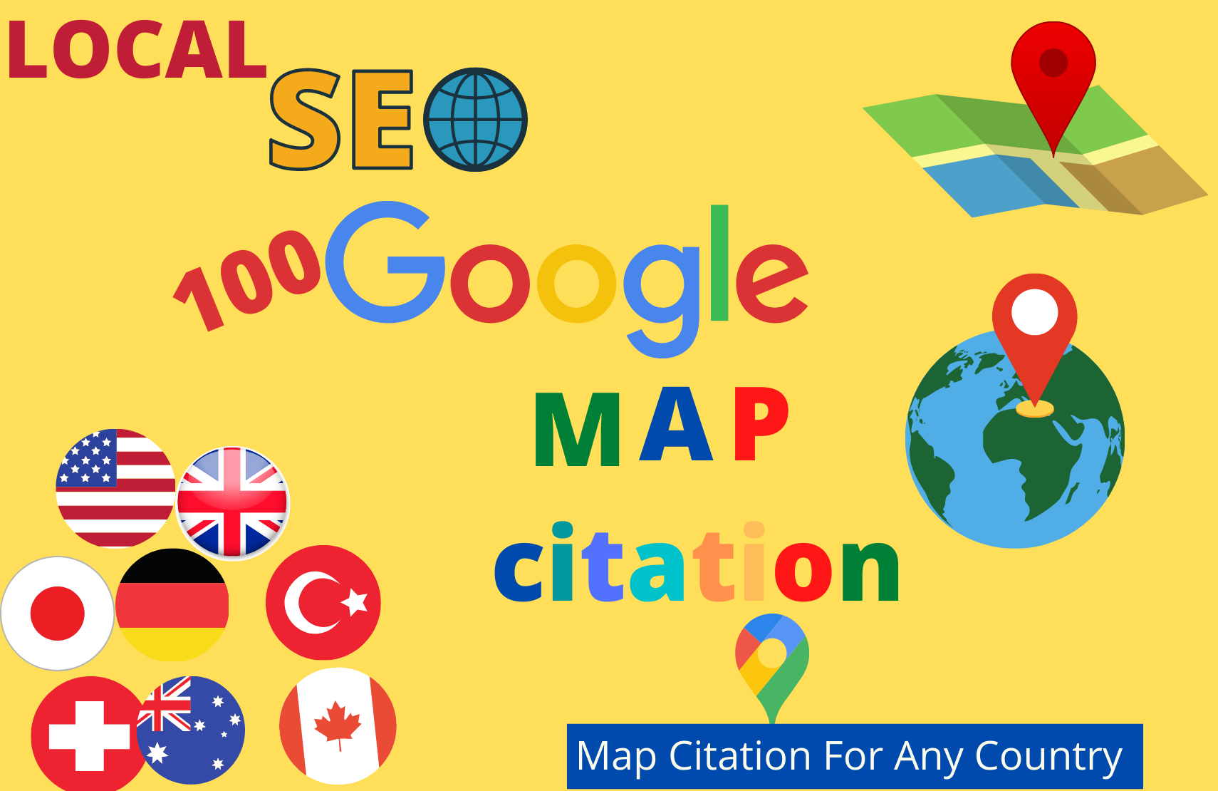 I will create 150 google map citation manually for local SEO