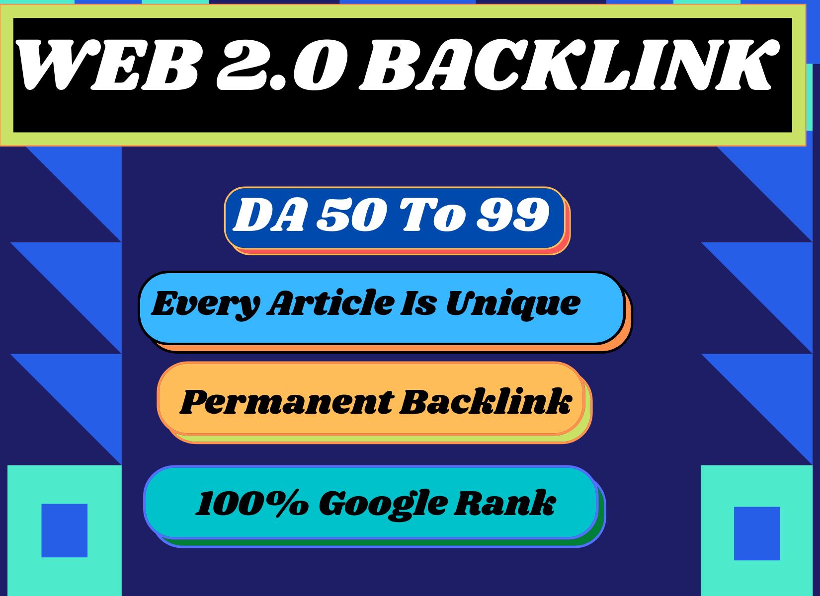 I will rank your blog with high da super 15 web 2 0 backlinks