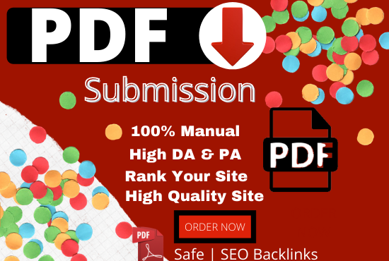 I will Provide 20 PDF or Doc Submission On High Authority Document Sharing on high DA Sites