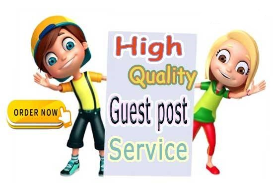 I will publish high quality SEO guest post backlink and outreach