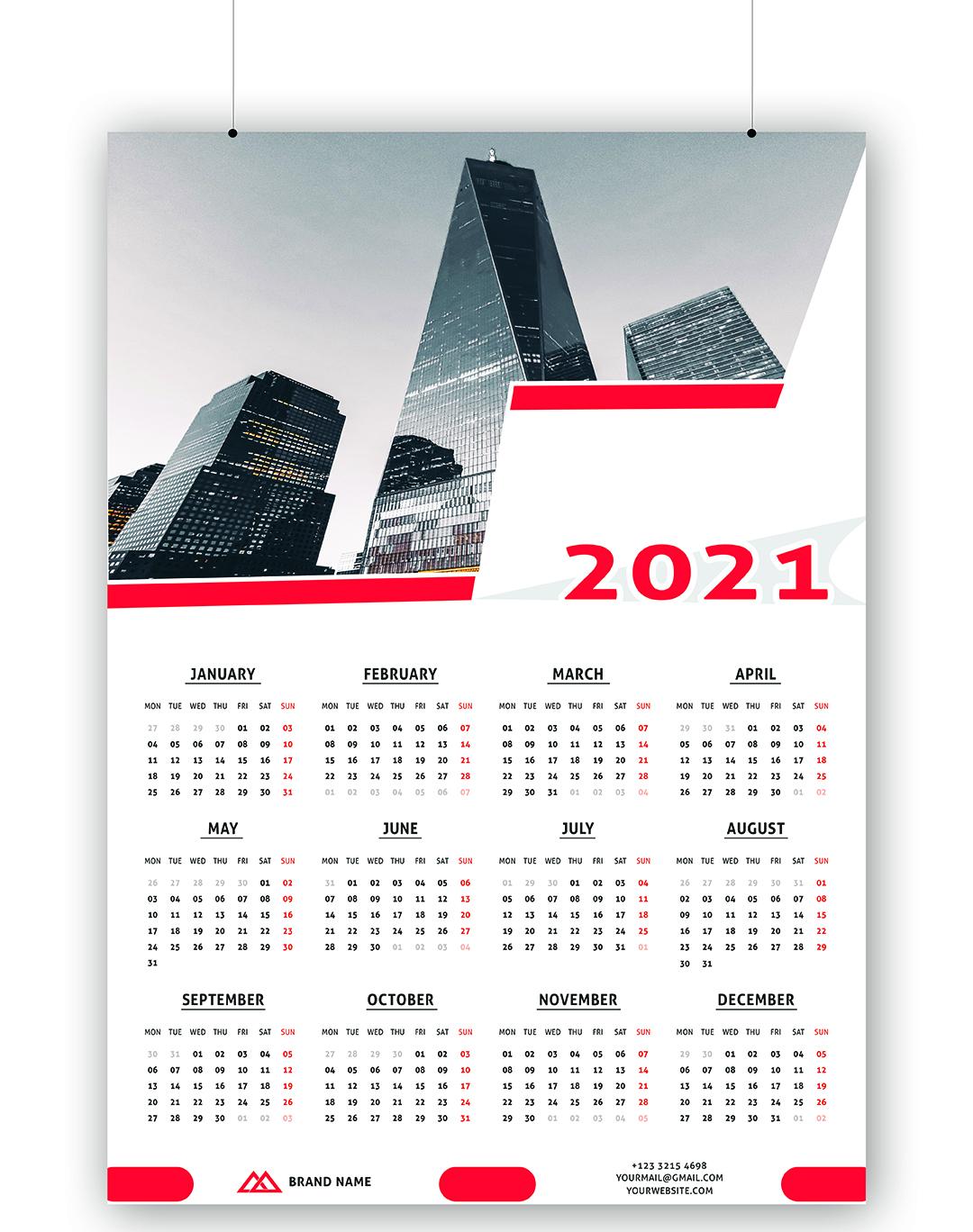 i will do professional calendar