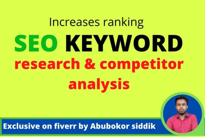 perfect SEO keyword research and competitor analysis