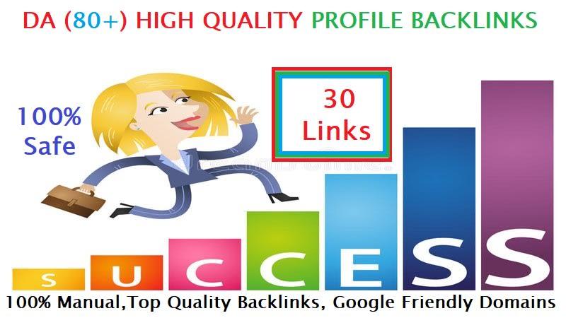 build 30 high da profile backlinks