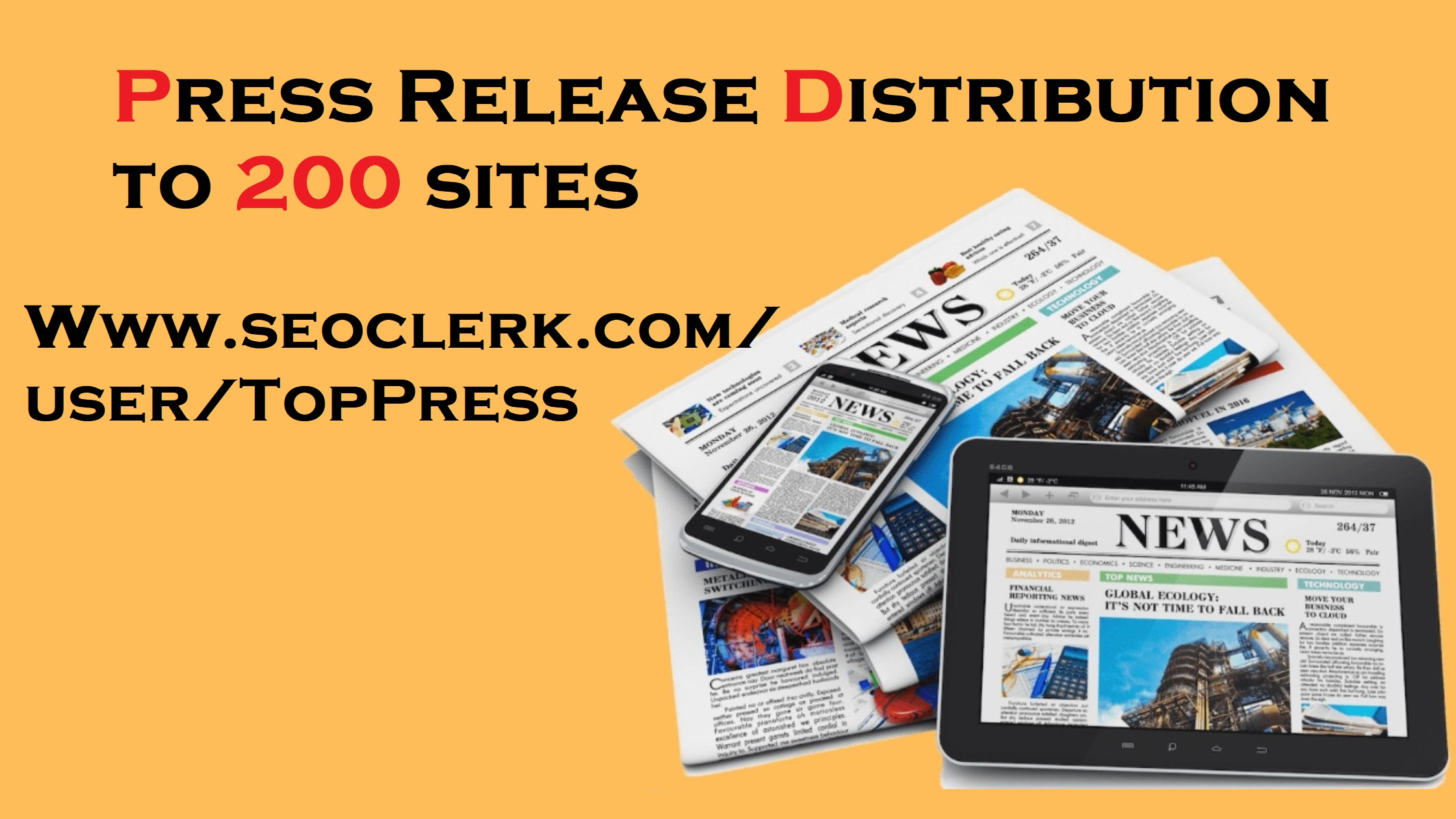 Press Release Distribution to 200 Websites