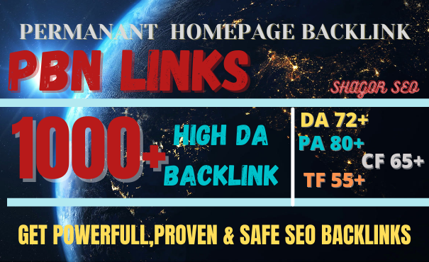 GET 1000+ web 2.0 pbn DOFOLLOW BACKLINK high DA/PA with DA 80+ PA 85+ with unique Backlink