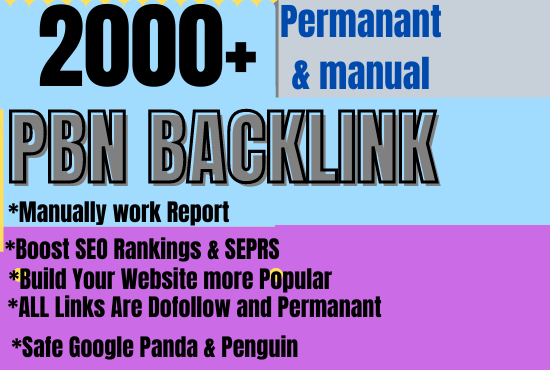 Buy extream 2000+ web 2.0 pbn backlink with High DA/PA/TF/CF in your homepage with unique website