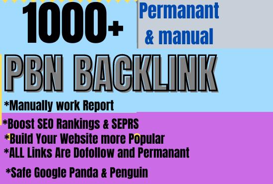 1000+ PBN with Permanent Dofollow & High DA/PA/TF/CF & WEB 2.0 Backlink