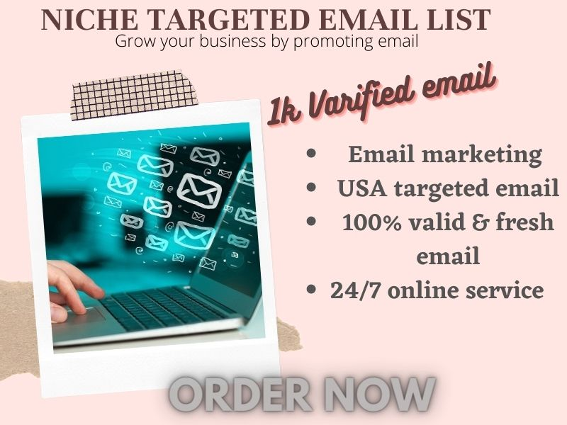 I will provide bulk targeted niches clean active verified email list your business