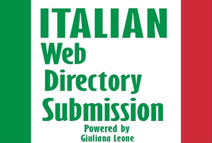 I will do manually 52 italian high PR web directory submissions