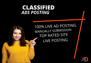 I Will Provide 100 Manual Classified USA Ads Posting for Google rank.