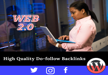 I will build 40 high authority web 2 0 white hat SEO backlinks