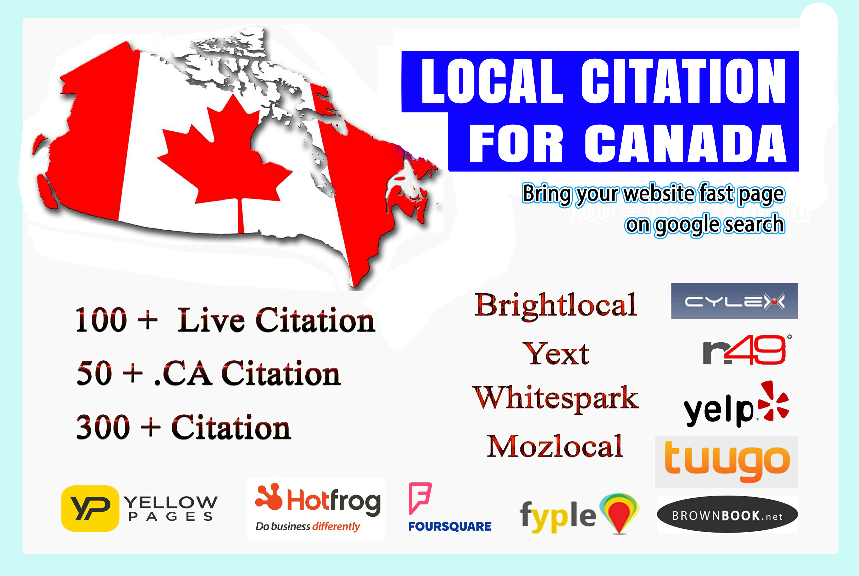 I will do best Canada local SEO citations for Your Business