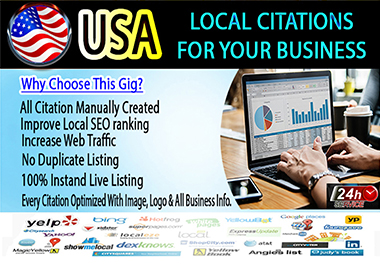I will do top 50 live USA local citations and directory submission