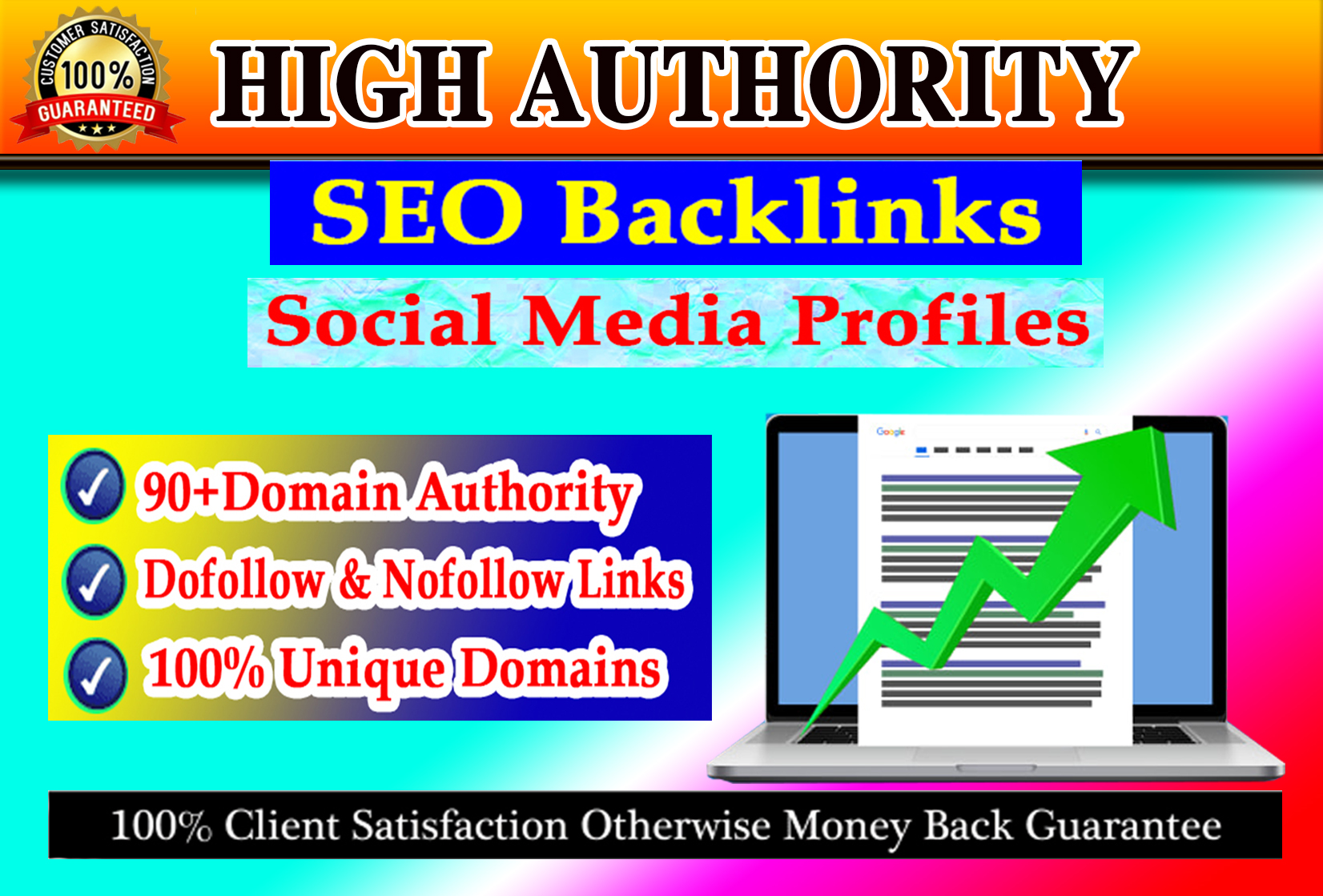 I will manually create 50 high authority seo backlinks from top brands