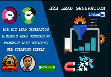I will do B2B Lead Generation and Prospect List Building to boost sales