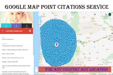 create 1500+ Google Point Map Citation To Boost and Rank Your Local Business