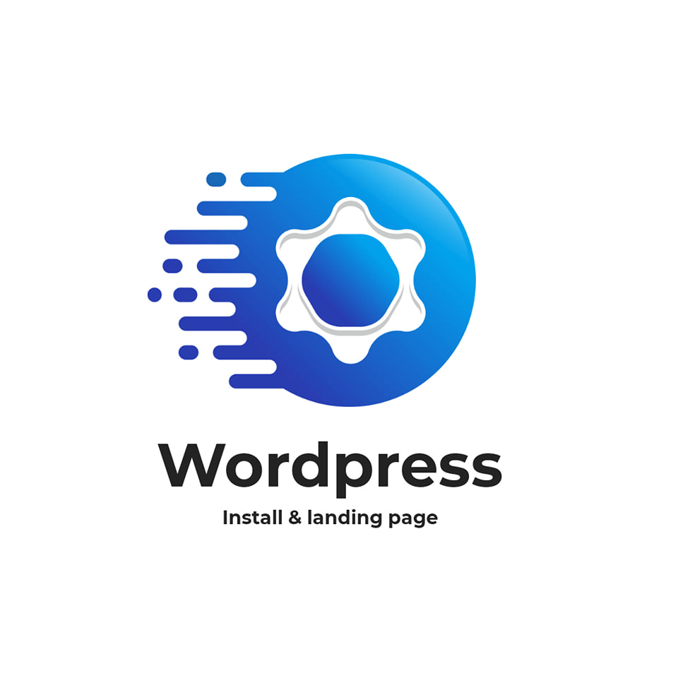 install wp, setup wordpress theme demo and customise landing pages