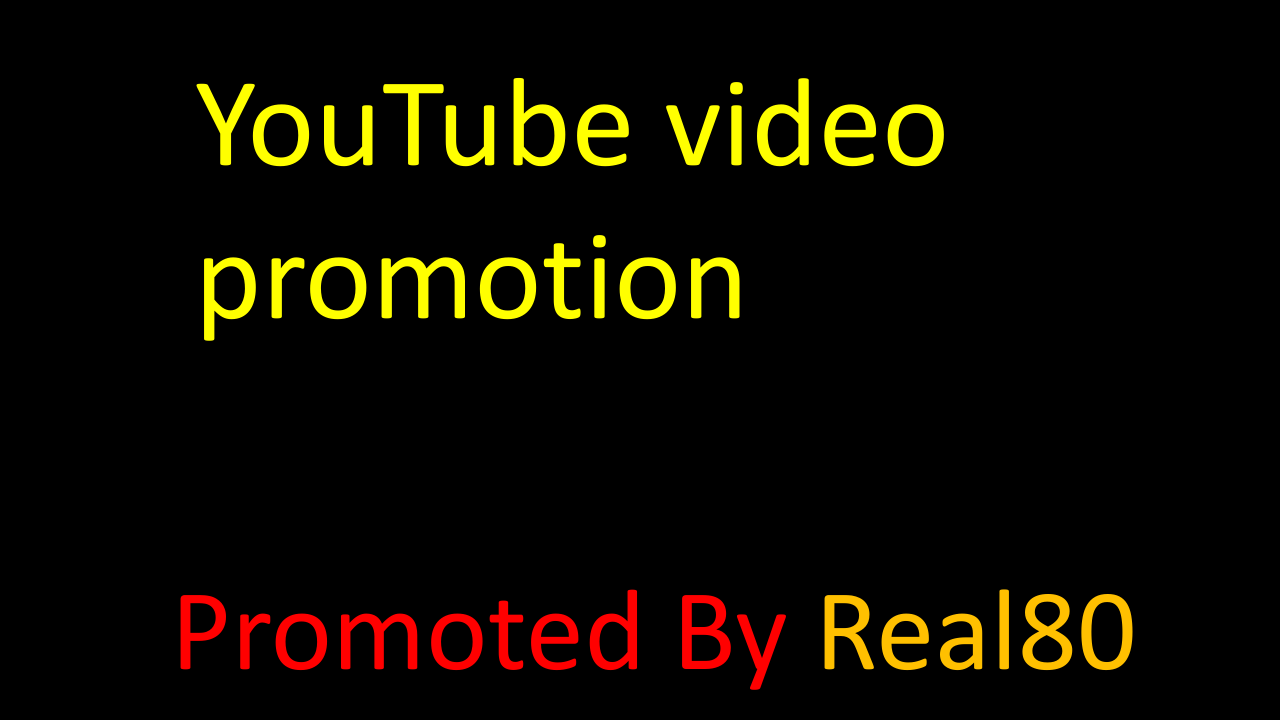 YouTube video promotion manually & fast delivery