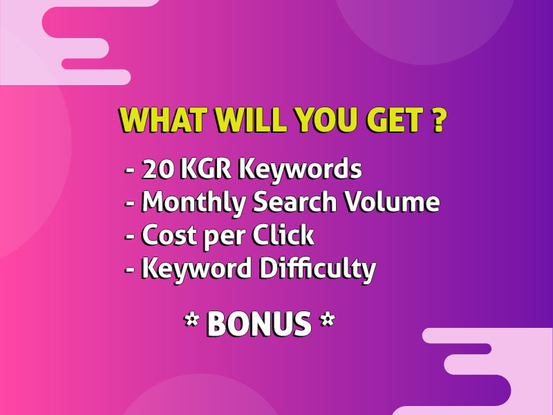 Target these KGR keywords and rank #1 within 2 weeks [Guaranteed]