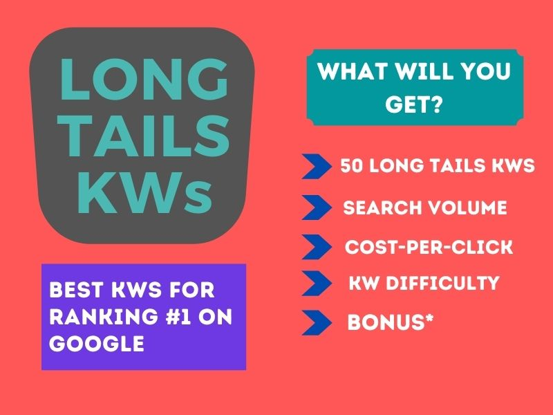 I will research 50 Long tails keywords in your niche