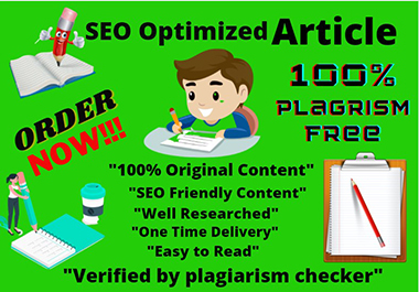 I will write 1000+ words SEO optimized article blog post